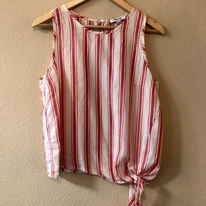 Madewell Side-Tie Tank Shirt